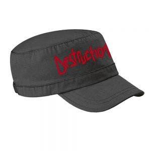 DESTRUCTION - Red logo bedruckt - Army Cap schwarz