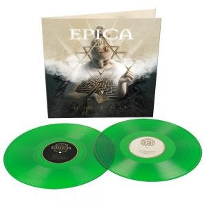 EPICA - Omega TRANSPARENT LIGHT GREEN VINYL - 2LP grün