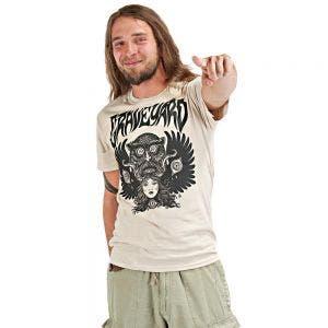 GRAVEYARD - Monstertryck schwarz - T-Shirt