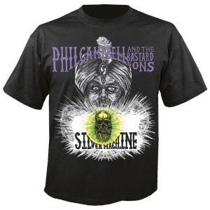 PHIL CAMPBELL A - Silver machine schwarz - T-Shirt