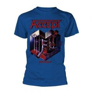 ACCEPT - Metal heart 2 BLUE blau - T-Shirt